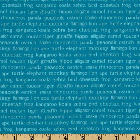 Cotton,Quilt,Fabric,Zoofari,Animal,Names,Blue,Boys,R,Blake,quilt fabric,cotton material,auntie chris quilt,sewing,crafts,quilting,online fabric,sale fabric