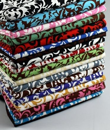 Cotton Quilt Fabric Delightful Damask Brown And Mint Green  Cotton  - product images  of