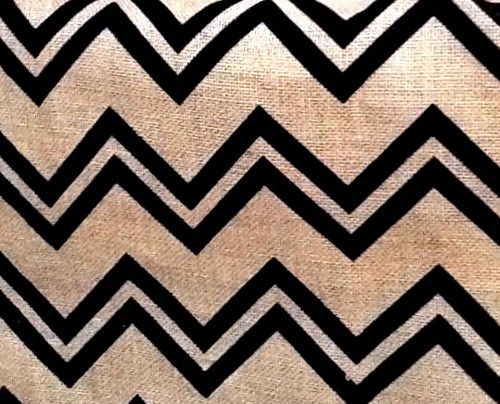 Printed Burlap Fabric Chevron Angles Geometric Fabric Jute - product images  of