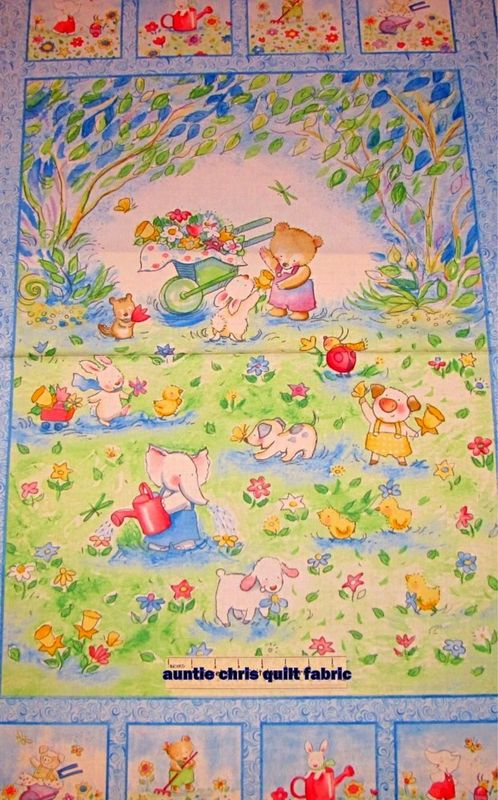 Easy Panel Plus Quilt Kit Forest Friends Baby Animal Wall Crib Quilt - product images  of