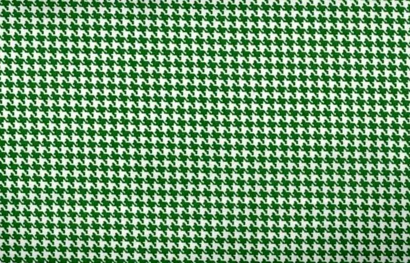Cotton Quilt Fabric Classic Houndstooth Check Kelley Green And White - product image