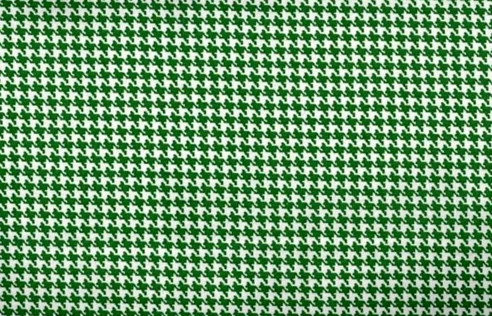 Cotton Quilt Fabric Classic Houndstooth Check Kelley Green And White ...