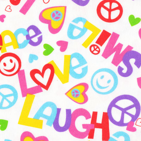 Cotton,Flannel,Quilt,Fabric,Peace,And,Love,Hearts,Smiley,Face,White,quilt fabric,cotton material,sewing,crafts,quilting,online fabric,sale fabric,quilt backings,modern cotton,fat quarters,moda