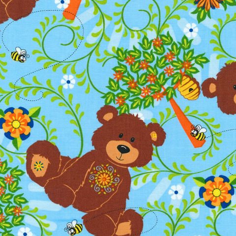 Cotton,Flannel,Quilt,Fabric,Mystic,Forest,Allover,Bears,Turquoise,Blue,quilt fabric,cotton material,sewing,crafts,quilting,online fabric,sale fabric,quilt backings,modern cotton,fat quarters,moda