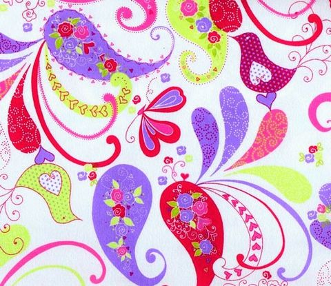 Cotton,Quilt,Fabric,Flannel,Delicate,Paisley,Floral,Birds,Pink,White,285 quilt fabric,cotton material,sewing,crafts,quilting,online fabric,sale fabric,quilt backings,modern cotton,fat quarters,moda