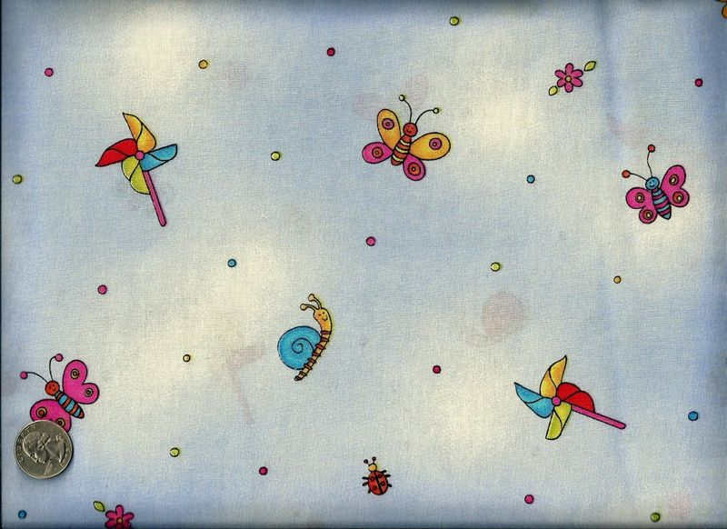 Cotton Quilt Fabric Summer Fun Girls Fabric Butterfly Lilac Baby  - product images  of