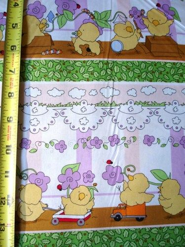 Cotton Quilt Fabric Play Day for Peep Squeaks Easter Spring Chicks - product images  of