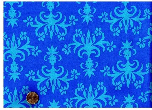 Cotton Quilt Fabric Del Hi Chandelier Ocean Blue Valori Wells   - product image
