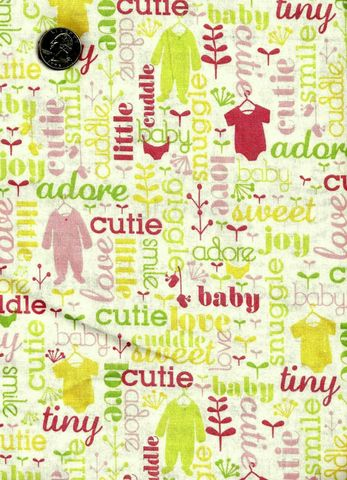 Cotton,Quilt,Fabric,Baby,Blooms,Girls,Pink,White,Quilts,quilt fabric,cotton material,auntie chris quilt,sewing,crafts,quilting,online fabric,sale fabric