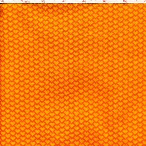 Cotton,Quilt,Fabric,Heart,Scale,Orange,Tone,On,Blender,quilt fabric,cotton material,auntie chris quilt,sewing,crafts,quilting,online fabric,sale fabric