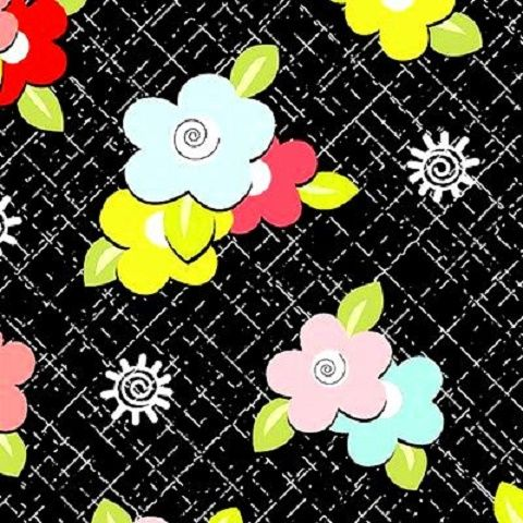 Cotton,Quilt,Fabric,Sugar,And,Spice,Black,Blue,Yellow,Pink,Floral,quilt fabric,cotton material,auntie chris quilt,sewing,crafts,quilting,online fabric,sale fabric