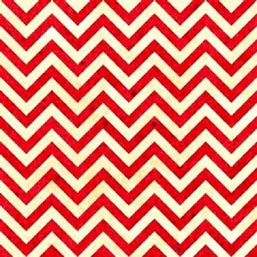 Cotton Quilt Fabric Heart Strings Stripe Red And White Chevron  - product image