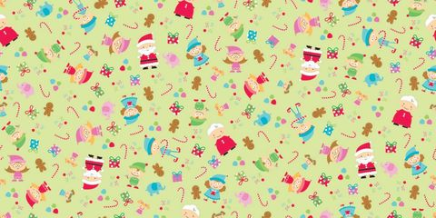Cotton,Quilt,Fabric,Flannel,Christmas,Santas,Workshop,Elves,Green,quilt fabric,cotton material,sewing,crafts,quilting,online fabric,sale fabric