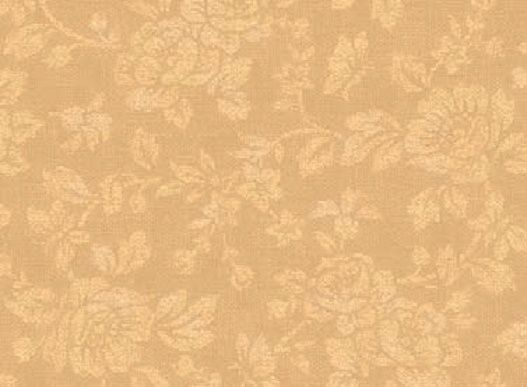 Cotton Quilt Fabric With All My Heart Damask Rose Tan Tone On Tone  - product images  of