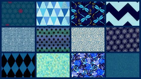 Everything,Blue,Stash,Builder,Quilt,Fabric,Mix,3,Yards,kit,quilt fabric,cotton material,auntie chris quilt,sewing,crafts,quilting,online fabric,sale fabric