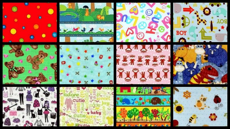 Kids Picks Childrens Stash Builder Quilt Fabric Mix 3 Yards - product images  of