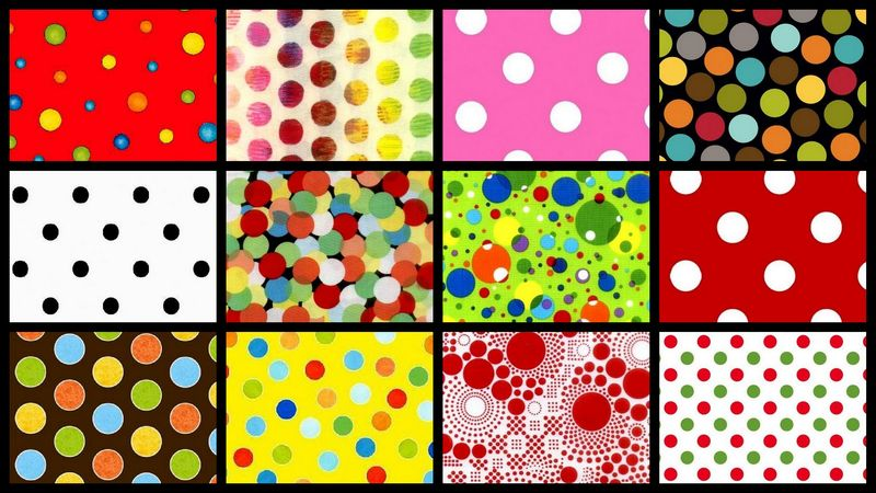 Connect The Dots Stash Builder Quilt Fabric Polka Dot Plus Mix 3 Yards - product images  of