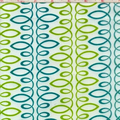 Cotton,Quilt,Fabric,Bloom,Modern,II,Loopy,Green,Teal,Multi,White,quilt fabric,cotton material,auntie chris quilt,sewing,crafts,quilting,online fabric,sale fabric