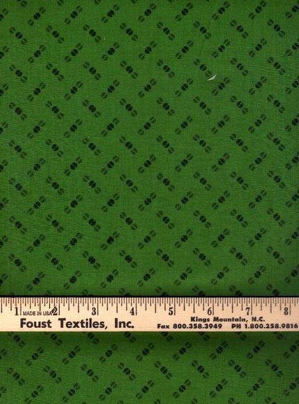 Cotton Quilt Fabric Color Program Green Beads Tone On Tone  - product image