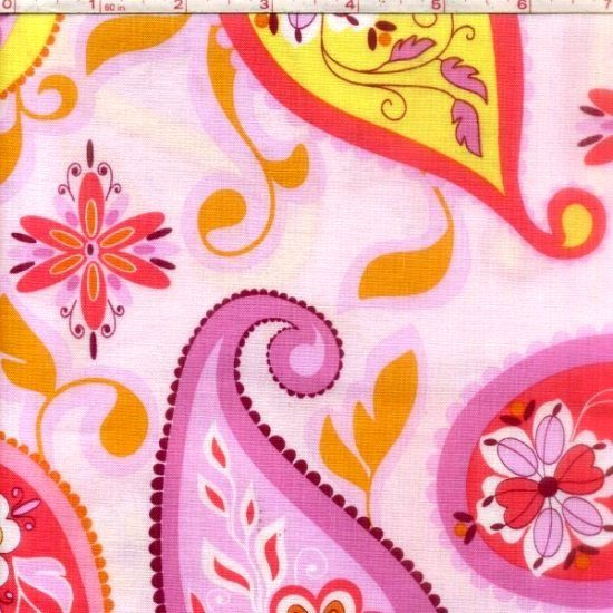 Cotton Quilt Fabric Splendor Paisley Pink Riley Blake Floral - product image