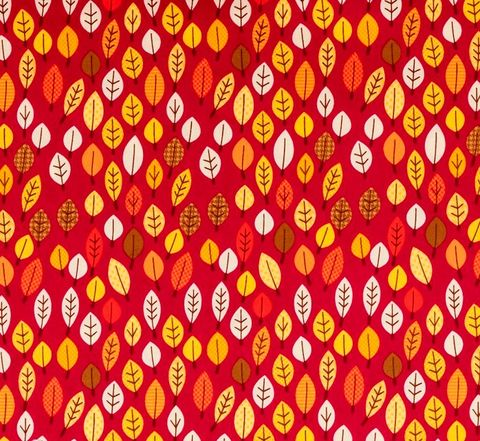 Cotton,Quilt,Fabric,Happy,Harvest,Autumn,Leaf,Red,Brown,Orange,auntie chris quilt fabric,cotton material,sewing,crafts,quilting,online fabric,sale fabric