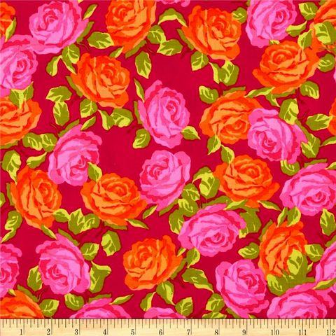 Cotton,Quilt,Fabric,Olivia,Medium,Floral,Pink,Red,Orange,R,Blake,auntie chris quilt fabric,cotton material,sewing,crafts,quilting,online fabric,sale fabric
