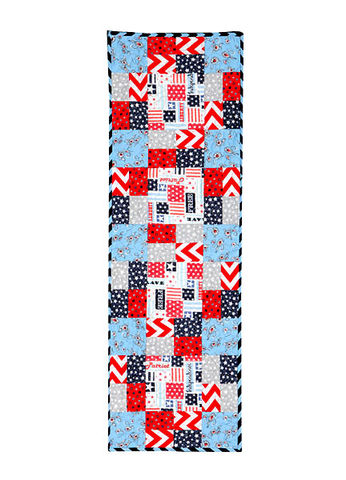 The,All,Season,Table,Runner,Kit,Reversible,Red,White,Blue,quilt fabric,cotton material,auntie chris quilt,sewing,crafts,quilting,online fabric,sale fabric