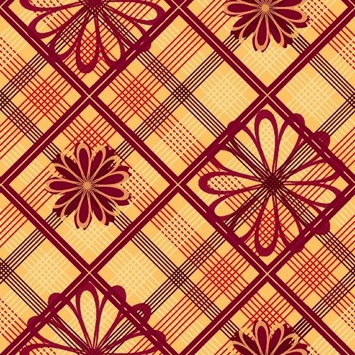 Cotton Quilt Fabric Plaids And Argyles Floral Plaid VIP - product image