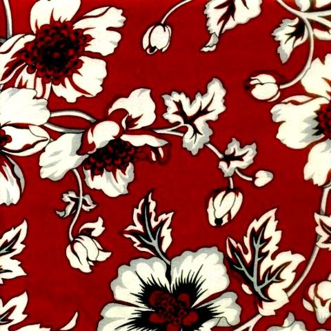 Cotton,Quilt,Fabric,Alsace,Large,Floral,Red,Black,Grey,Flowers,quilt fabric,cotton material,auntie chris quilt,sewing,crafts,quilting,online fabric,sale fabric