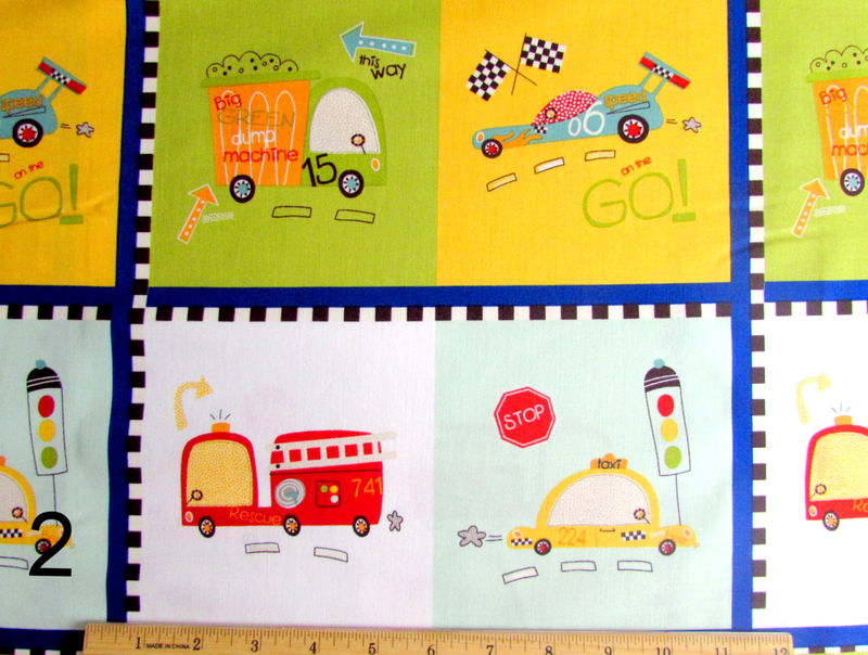 Cotton Quilt Fabric Riley Blake On Our Way Race Cars Firetrucks  - product images  of