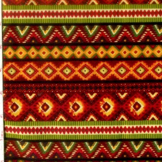Cotton Quilt Fabric Santa Fe Spice Cayenne Southwestern - product images  of
