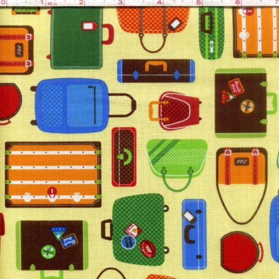 Cotton Quilt Fabric Out N About Collection Primary Travelers - product images  of