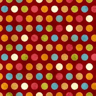 Cotton,Quilt,Fabric,Kitty,Kat,Kapers,Red,Multi,Polka,Dots,auntie chris quilt fabric,cotton material,auntie chris quilt,sewing,crafts,quilting,online fabric,sale fabric
