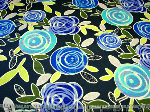 Cotton,Quilt,Fabric,Lulu,Large,Stylized,Floral,Dark,Grey,quilt fabric,cotton material,auntie chris quilt,sewing,crafts,quilting,online fabric,sale fabric