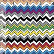 Cotton Quilt Fabric Galactic Space Geek Chevron Multi Color - product images  of