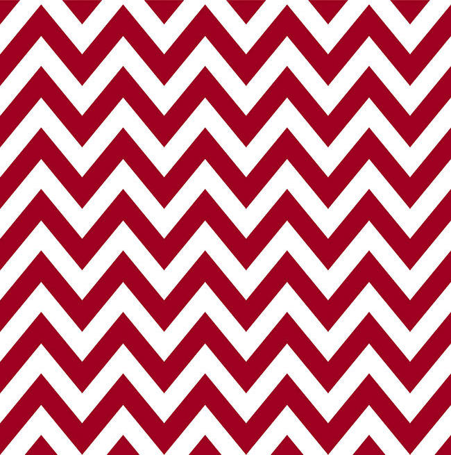 Cotton Quilt Fabric Liberty For All Chevron Stripe Red And White  - product image