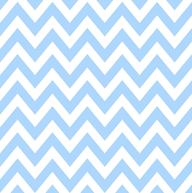 Cotton Quilt Fabric Liberty For All Chevron Stripe Sky Blue And White  - product image
