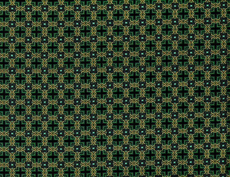 Cotton Quilt Fabric Star Of Hope Geometric Green Teal Benartex  - product image