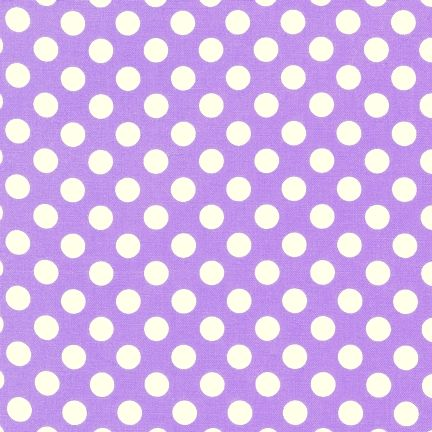 Cotton Quilt Fabric Makower UK Polka Dot Light Purple White - product image