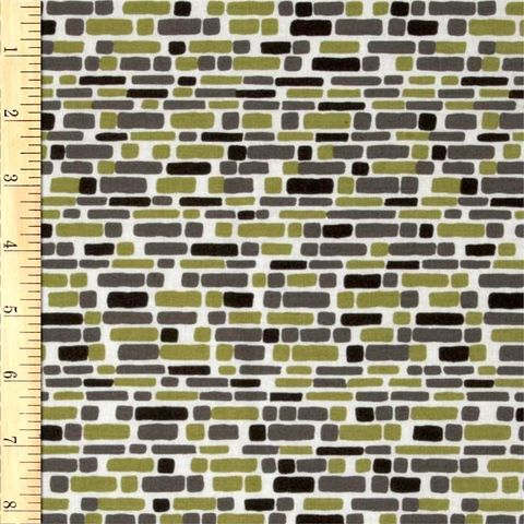 Cotton,Quilt,Fabric,Annalee,Bricks,In,Green,Jane,Dixon,Modern,quilt fabric,cotton material,auntie chris quilt,sewing,crafts,quilting,online fabric,sale fabric