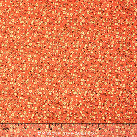 Cotton,Quilt,Fabric,Indian,Summer,Cottage,Floral,Coral,Multi,quilt fabric,cotton material,auntie chris quilt,sewing,crafts,quilting,online fabric,sale fabric