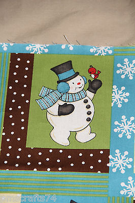 Cotton Quilt Fabric Sweetie Pie Snowmen Christmas Winter Snowflakes  - product images  of