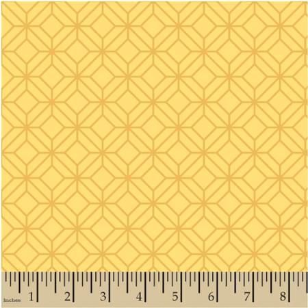 Cotton Quilt Fabric Moderation Lattice Modern Geometric Yellow  - product image