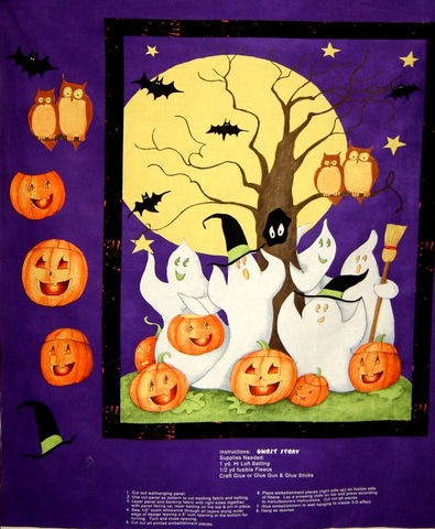 Easy,Quilt,Fabric,Panel,Kit,Ghost,Story,Wall,Hanging,Cotton,auntie chris quilt,quilt fabric,cotton material,sewing,crafts,quilting,online fabric,sale fabric