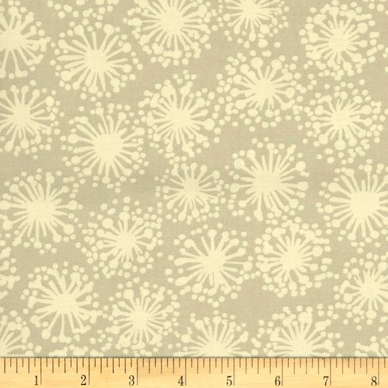 Cotton Quilt Fabric Hab-i-tat Dandelion Taupe Michele D'Amore - product image