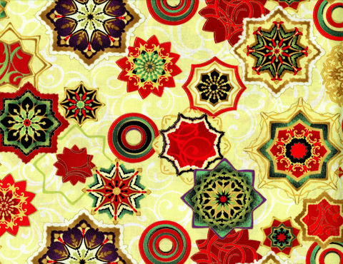 Cotton,Quilt,Fabric,Holiday,Reflections,Medallions,Multi,Metallic,quilt fabric,cotton material,auntie chris quilt,sewing,crafts,quilting,online fabric,sale fabric