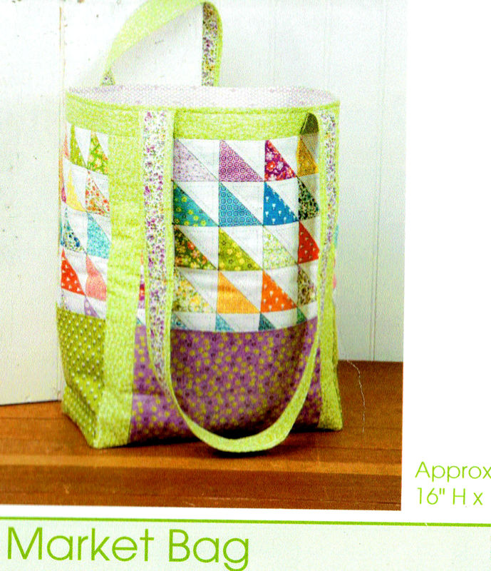 Market Bag Tote Bag Kit Book Bag Purse Kit Thirties Fabrics - product images  of