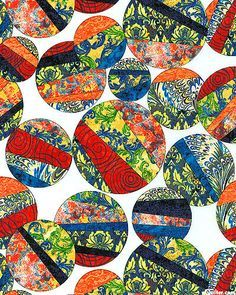 Cotton Quilt Fabric Venetian Glass Large Circles Multi - product images  of