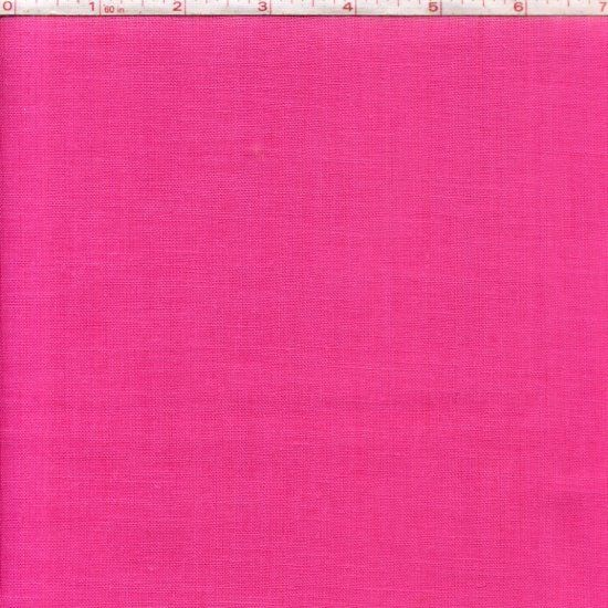 Cotton Linen Fabric Washable Bright Pink Linen Texture - product image