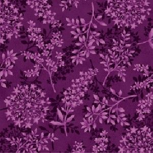 Cotton Quilt Fabric Purple Botanica Collection Floral - product images  of